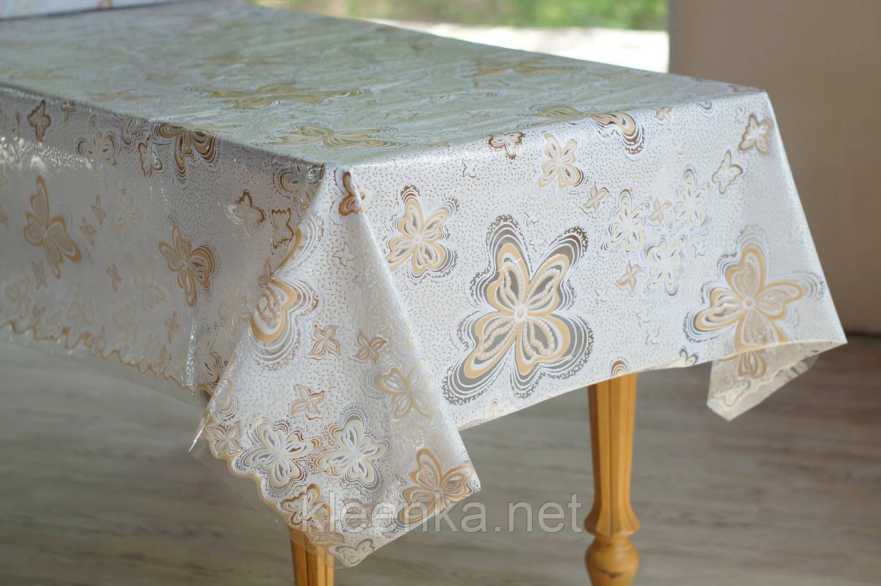 Клеенка для стола Ажур Лейс Бабочки, очень нежная и красивая