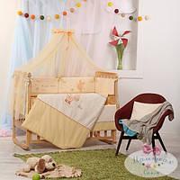 Защита  на молнии 35 см и простыня  Детские мечты цвет пони бежевый