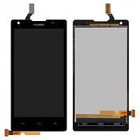 Дисплей (экран) для Huawei Ascend G700-U10 + с сенсором (тачскрином) черный Оригинал