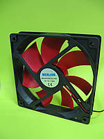 Кулер корпусной Merlion 12025 DC sleeve fan 4pin + 4pin molex - 120*120*25мм, 1100об/мин