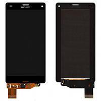 Дисплей (экран) для Sony D5803/D5833 Xperia Z3 Compact Mini + с сенсором (тачскрином) черный Оригинал