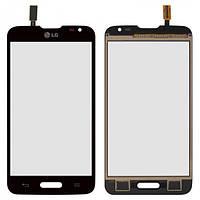 Сенсор (тачскрин) для LG D320 Optimus L70, D321 Optimus L70, MS323 Optimus L70 черный Оригинал