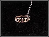 Колечко серебряное Сердца Арт.066