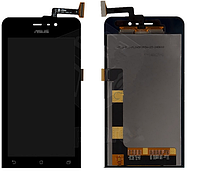 Дисплей (экран) для Asus ZenFone 4 A450CG + с сенсором (тачскрином) черный Оригинал
