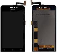 Дисплей (экран) для Asus ZenFone 4 (A450CG) + с сенсором (тачскрином) черный Оригинал