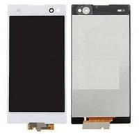 Дисплей (экран) для Sony D2502 Xperia C3 Dual Sim/D2533/S55T/S55U + с сенсором (тачскрином) белый