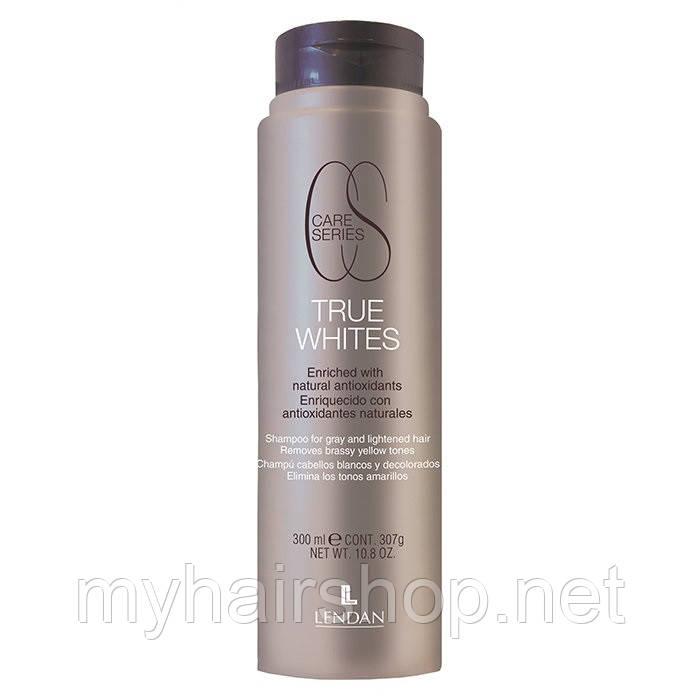 Шампунь против желтизны для обесцвеченных волос LENDAN TRUE WHITES 300 мл