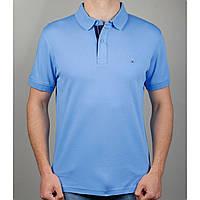 Мужская футболка поло TOMMY HILFIGER 20885 светло-голубая