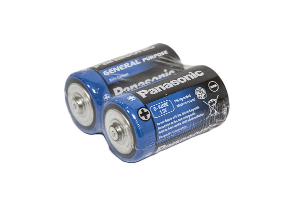 """Батарейки """"PANASONIC"""" General Purpose R20 Tray (2 шт/уп) Zink Carbon (бочка)"""