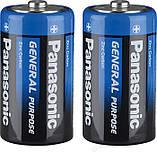 """Батарейки """"PANASONIC"""" General Purpose R20 Tray (2 шт/уп) Zink Carbon (бочка), фото 2"""