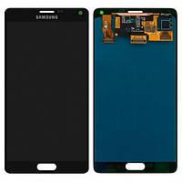 Дисплей (экран) для Samsung N910H Galaxy Note 4 + с сенсором (тачскрином) серый Оригинал