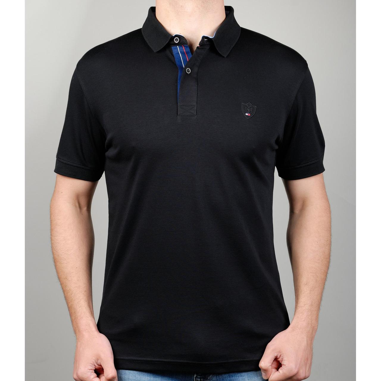 Мужская футболка поло TOMMY HILFIGER 20886 черная - купить по лучшей ... 370cd761b8888