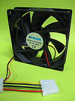 Кулер корпусной Merlion 9025 DC sleeve fan 4pin + 4pin molex - 90*90*25мм, 1300об/мин