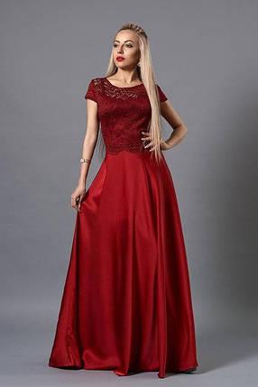 Вечернее платье в пол с гипюровой спинкой, фото 2