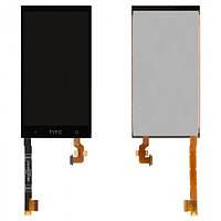Дисплей (экран) для HTC One mini 601n + с сенсором (тачскрином) черный