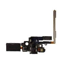 Шлейф для Samsung G850F Galaxy Alpha, с кнопками громкости, с разъемом наушников, с динамиком, с микрофоном