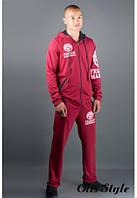 Мужской спортивный костюм Шалди бордовый, фото 1