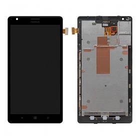 Дисплей (экран) для Microsoft (Nokia) 1520 Lumia (RM-938) с сенсором (тачскрином) и рамкой черный Оригинал