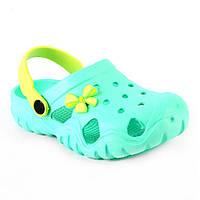 Пляжная обувь детская из эва бирюзового цвета