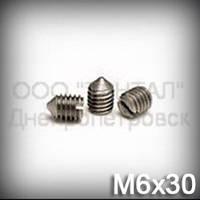 Винт М6х30 ГОСТ 1476-93 (DIN 553, ISO 7434) - гужон установочный с острым концом
