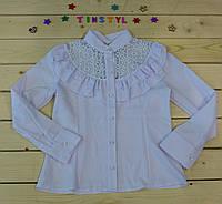 Нарядная блузка   Ромашки для девочки на рост 140 см, фото 1