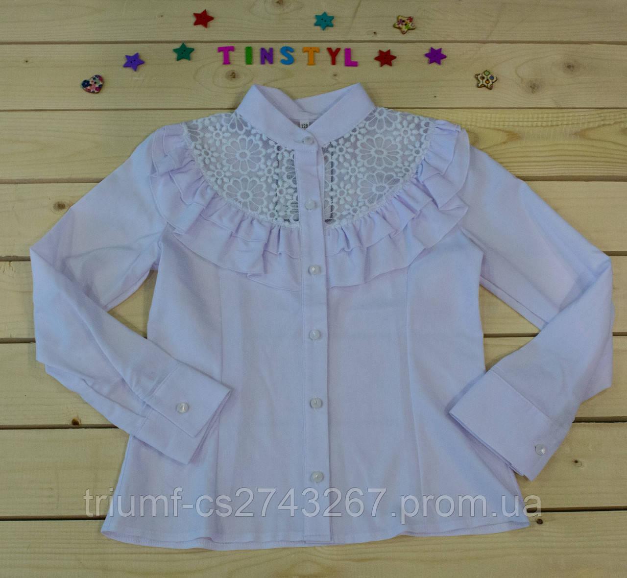 b194f604378 Нарядная блузка Ромашки для девочки на рост 128-152  продажа
