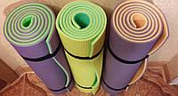 """Каремат, коврик """"Фитнес"""" для занятий аэробики, фитнес, йоги 1800х600х9 мм"""