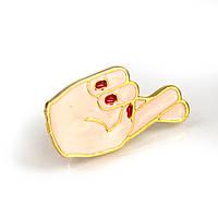 Значок Скрещенные пальцы Pin Up Hot Punk Collection