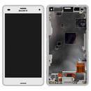 Дисплей (экран) для Sony D5803/D5833 Xperia Z3 Compact Mini + с сенсором (тачскрином) и рамкой белый Оригинал