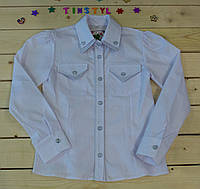 Стильная рубашка  для девочки на рост 116-152