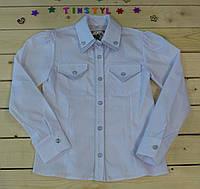 Стильная рубашка  для девочки на рост 128-146 см, фото 1