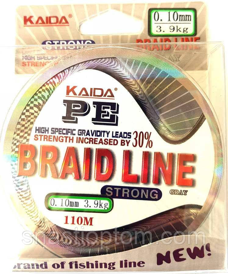 Шнур для рыбалки Kaida Braid Line сечение 0,10, 110м