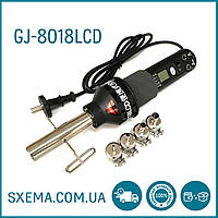 Паяльная станция GJ-8018LCD термофен, с насадками , воздушная пайка