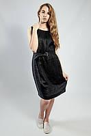 Платье женское летнее черное льняное без рукава s.Oliver