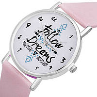 Женские часы Follow your dreams (розовые)