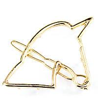 Заколка для волос Единорог золото, фото 1