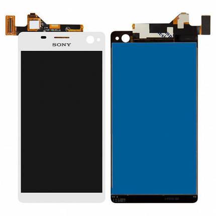 Дисплей (экран) для Sony E5333 Xperia C4 Dual Sim/E5343/E5353/E5363/E5303/E5306 + сенсором (тачскрином) белый, фото 2