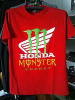 Футболка HONDA Monster Energy 100% хлопок красная
