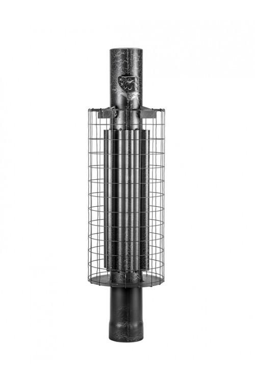Дымоход- конвектор сетка  с шибером ф115 L 1 м Ферингер