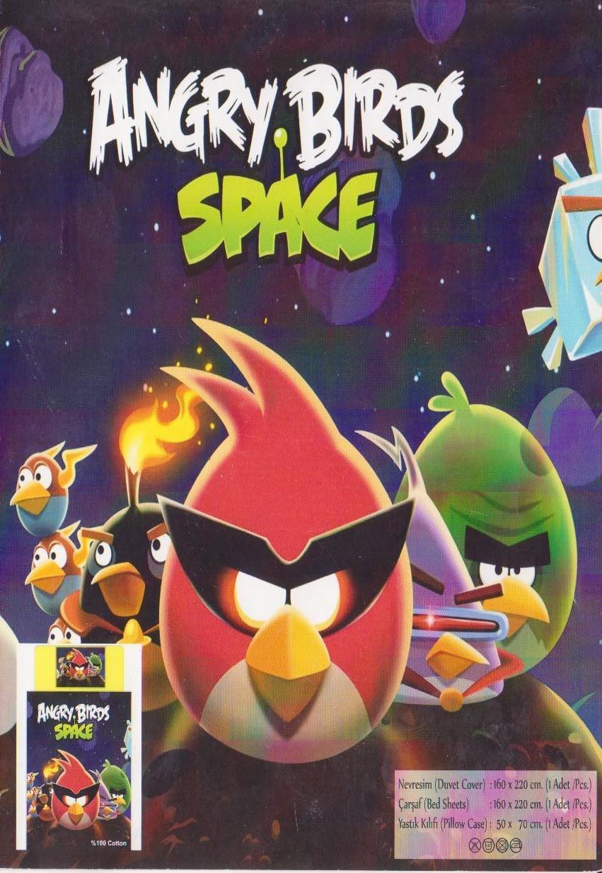 Детское постельное белье Angry Birds Space Турция - Интернет магазин Постелюшка (Домашний текстиль, сумки, товары для дома и отдыха) в Харькове