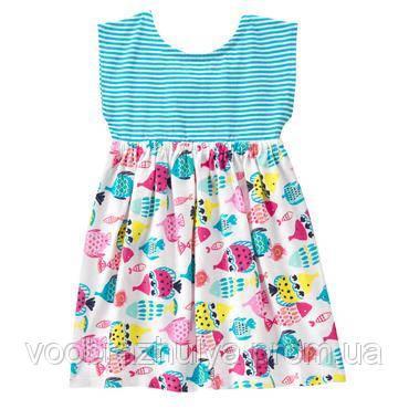 616643aae0f Морское платье с рыбками Gymboree 6-12 мес  продажа