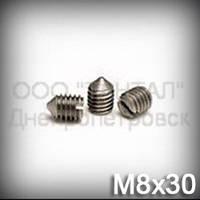 Винт М8х30 ГОСТ 1476-93 (DIN 553, ISO 7434) - гужон установочный с острым концом