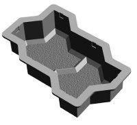 Формы для тротуарной плитки «Волна с перегородкой» заказ от 50 штук