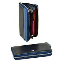 Женский кошелек из натуральной кожи Rainbow WRS-2 blue, фото 1