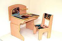 """Детская парта и стул """"Ребенок-босс"""" из ламинированного ДСП для ребенка 3-7 лет"""