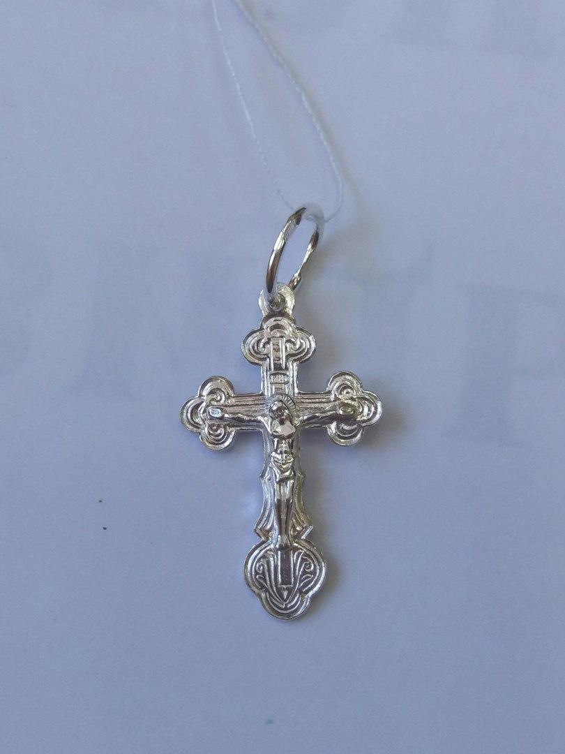 Хрест срібний 925 проби з розп'яттям