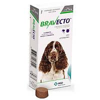 Бравекто для собак 10-20 кг, Жевательная таблетка для защиты собак от клещей и блох