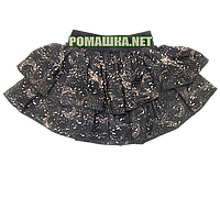 Детская юбочка р. 98-104 для девочки ткань 100% ПОЛИЭСТР 1027 Черный 98