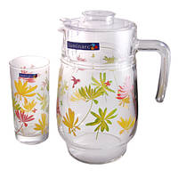 Набор для сока кувшин+ 6стаканов Grazy Flower Luminarc