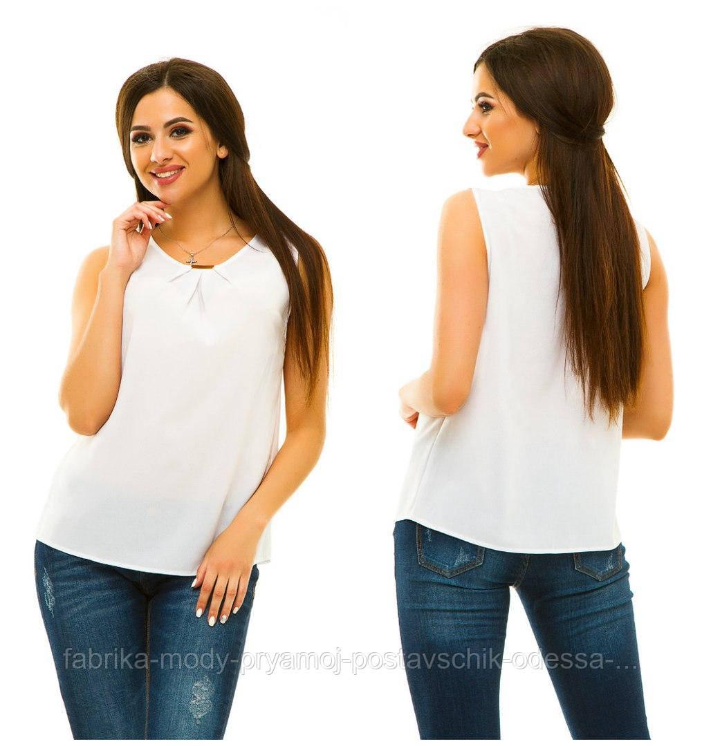 Блузка модная без рукав  44-50 в расцветках недорого